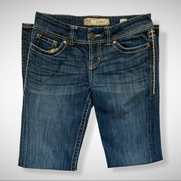 BKE Addison Flap Pocket Boot Leg Jeans Size 28